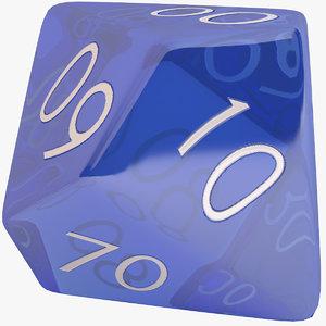 dice d10 3D model