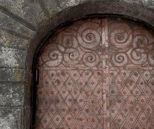 3D old gate medieval model