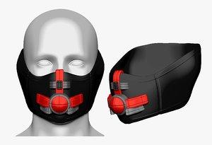 3D model gas mask helmet sculpt
