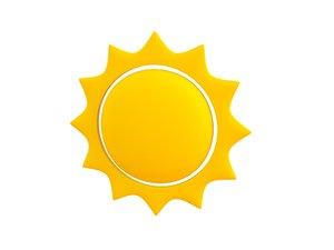 3D sun symbol