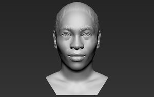 3D serena williams bust printing