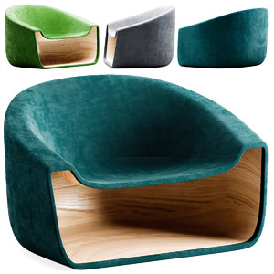 3D chair armchair book model
