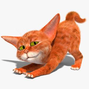 cat character rig 3D model
