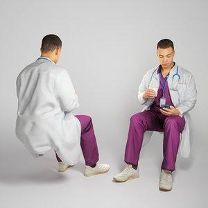 3D doctor medical male model