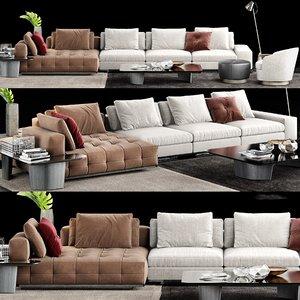 3D minotti lawrence sofa
