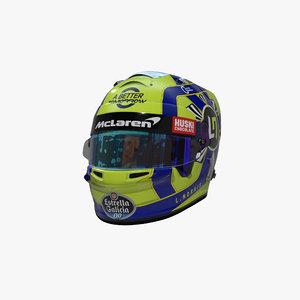 norris 2020 helmet 3D model