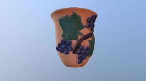 3D mug witch bunch wine cup model