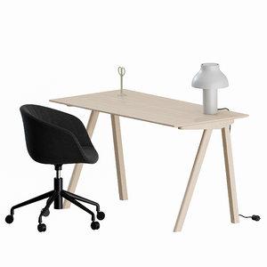 aac desk table lamp 3D model