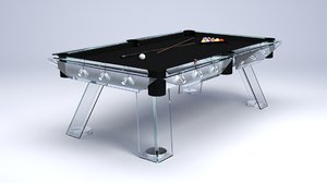modern billiard table 3D model