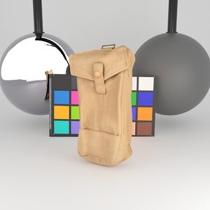 3D scanned military bag grenades
