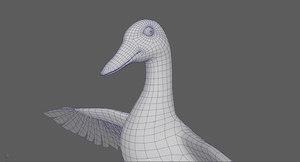 stylized duck 3D