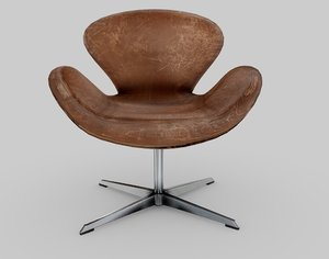 3D arne jacobsen swan chair
