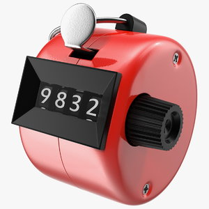 3D mechanical hand tally counter