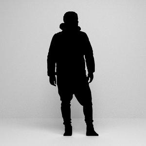 3D silhouette scene model