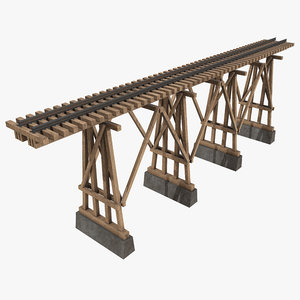 pbr wooden bridge 3D