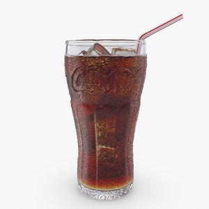 coca cola glass droplets 3D model