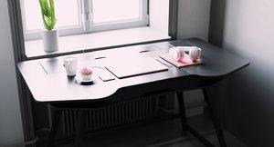 3D model unison 2 0 computer desk