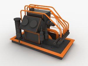 3D model oil equipment object