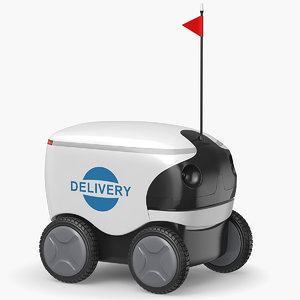 delivery bot deliver 3D model