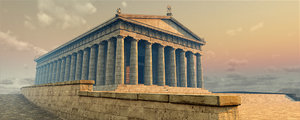 parthenon architecture model