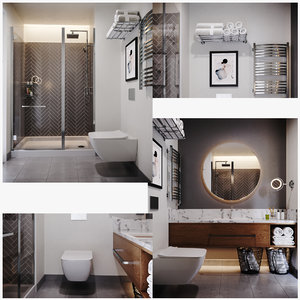 3D interior room wc