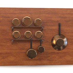 3D model pan plate saucepan