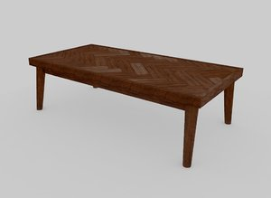 3D ashton wooden bench furniture wood model