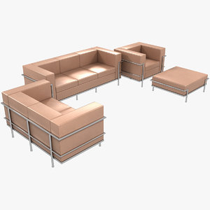 3D model le corbusier sofas chair