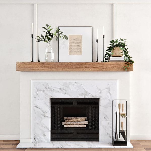 3d Decorative Fireplace Model Turbosquid 1595613