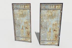 3D old metal door model