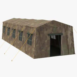 3D real military tent model