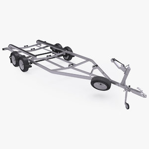 car boat trailer tandem 3D model