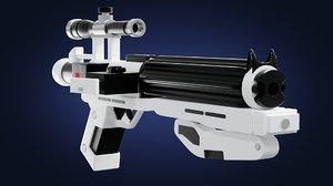 3D model order stormtrooper blaster gun