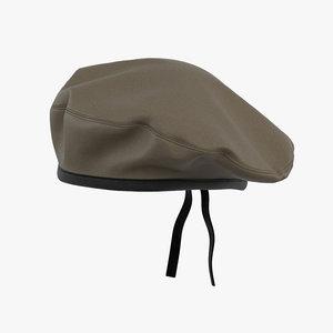 3D military beret