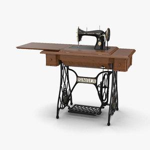 3D singer sewing machine model