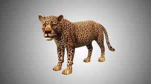 3D leopard cheetah model