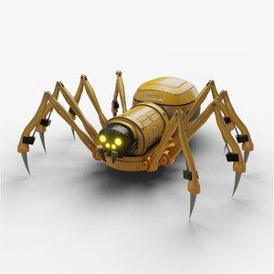 3D spider mechanical mecha