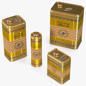 olive oil tin set model
