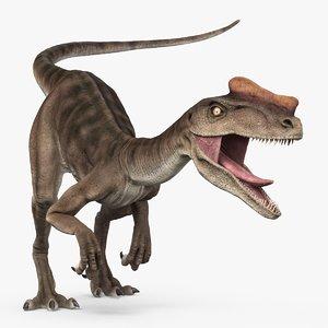 3D proceratosaurus theropod dinosaur