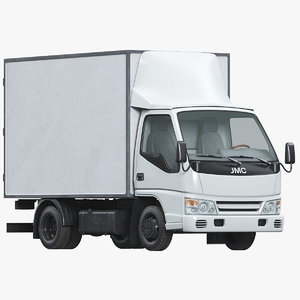 3D light commercial box truck