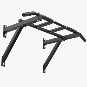 3D wall mounted pull bar model