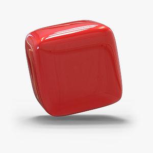 red cube corners model