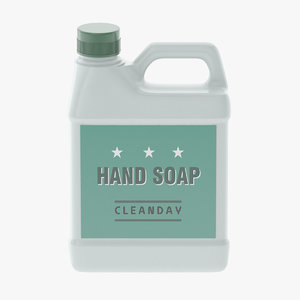 hand soap 3D model