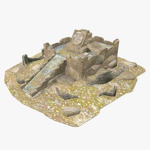 - mayan building 3D