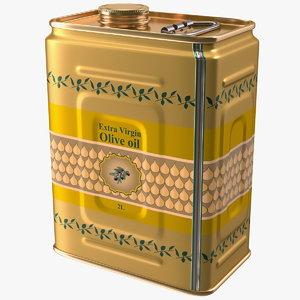 3D olive oil 2 litre