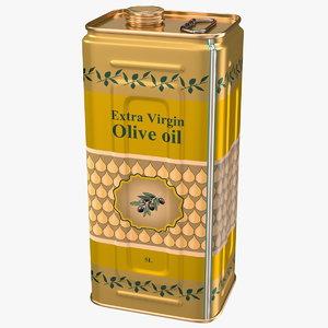 olive oil 5 litre 3D