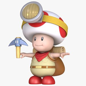 captain toad -treasure tracker model