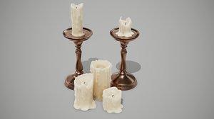 candles pbr 3D model