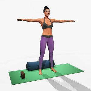 yoga pose 3D model