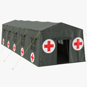 real military tent 3D model